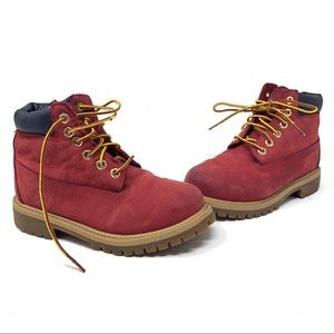 "Timberland red 6"" waterproof boots Youth"